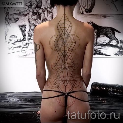тату абстракции на спину - фото пример от 21122015 № 6