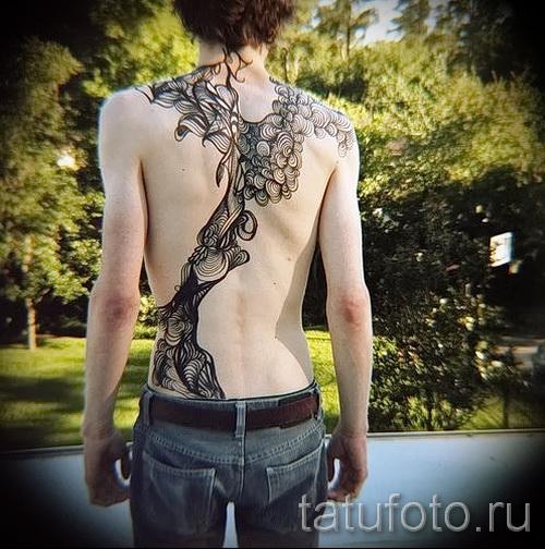 тату абстракции на спину - фото пример от 21122015 № 8