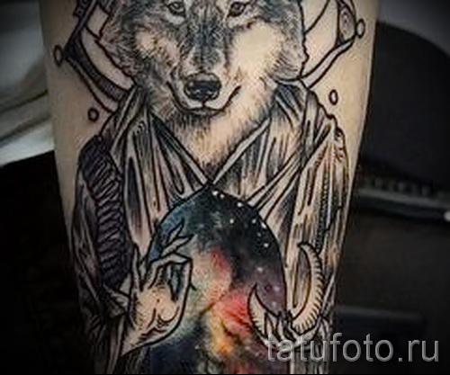 тату абстракция волка - фото пример от 21122015 № 13