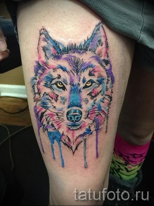 тату абстракция волка - фото пример от 21122015 № 9