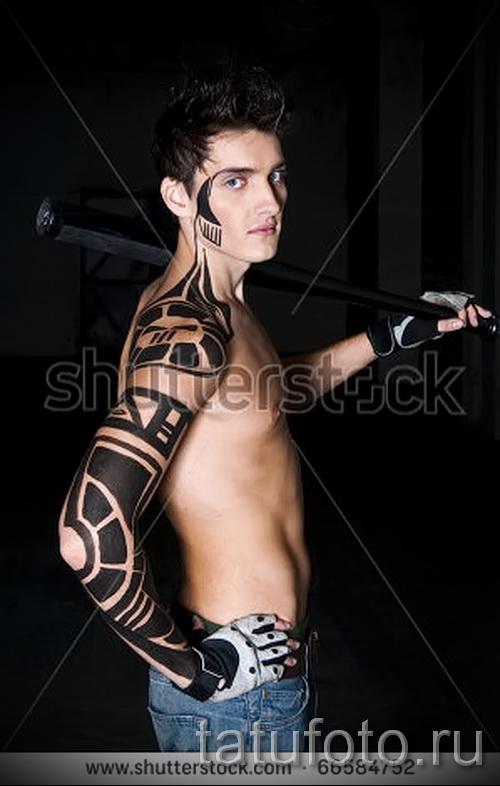 тату абстракция на плечо - фото пример от 21122015 № 23