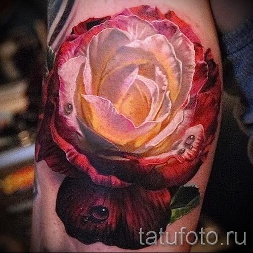 тату белая роза - фото вариант от 15122015 № 6