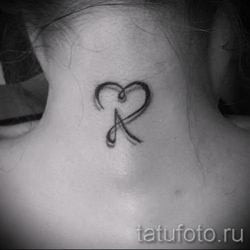 тату в виде буквы а - фото готовой татуировки - 20122015 № 1