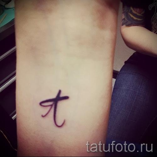 тату в виде буквы а - фото готовой татуировки - 20122015 № 6