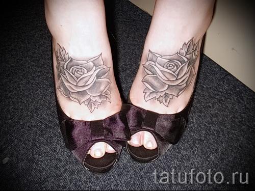 тату на ноге розы - фото вариант от 15122015 № 21