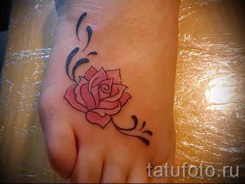 тату на ноге розы - фото вариант от 15122015 № 9