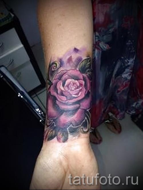 тату роза на запястье - фото вариант от 15122015 № 13