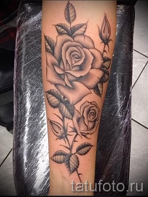 тату роза на запястье - фото вариант от 15122015 № 15