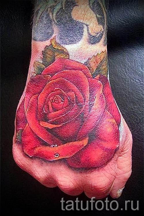 тату роза на кисти - фото вариант от 15122015 № 5