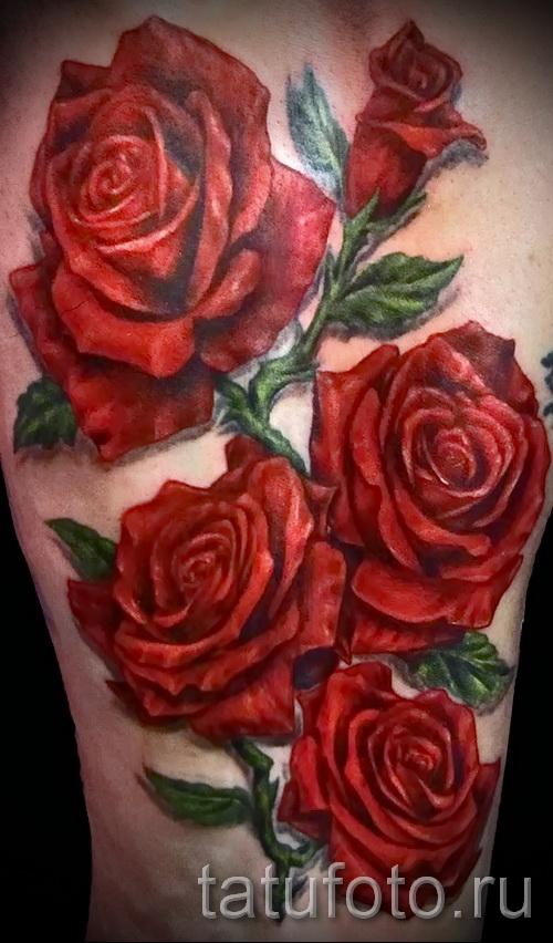 тату роза реализм - фото вариант от 15122015 № 8