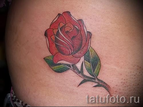 тату роза с шипами - фото вариант от 15122015 № 2