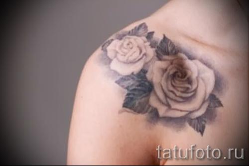 тату розы на ключицах - фото вариант от 15122015 № 1