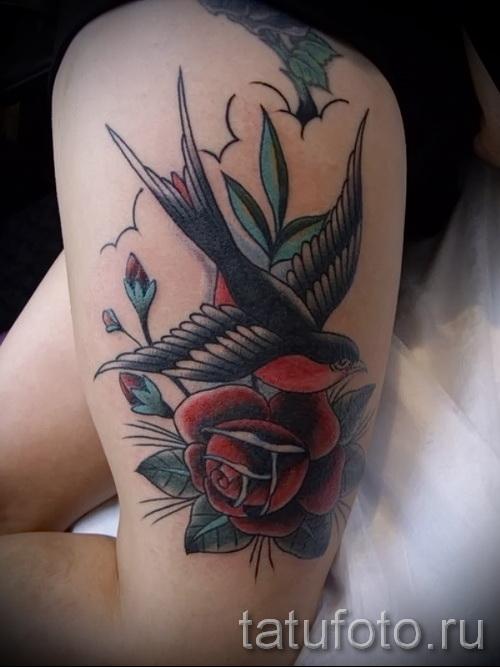тату розы на ляшках - фото вариант от 15122015 № 19