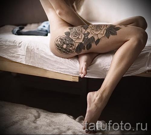 тату розы на ляшках - фото вариант от 15122015 № 20