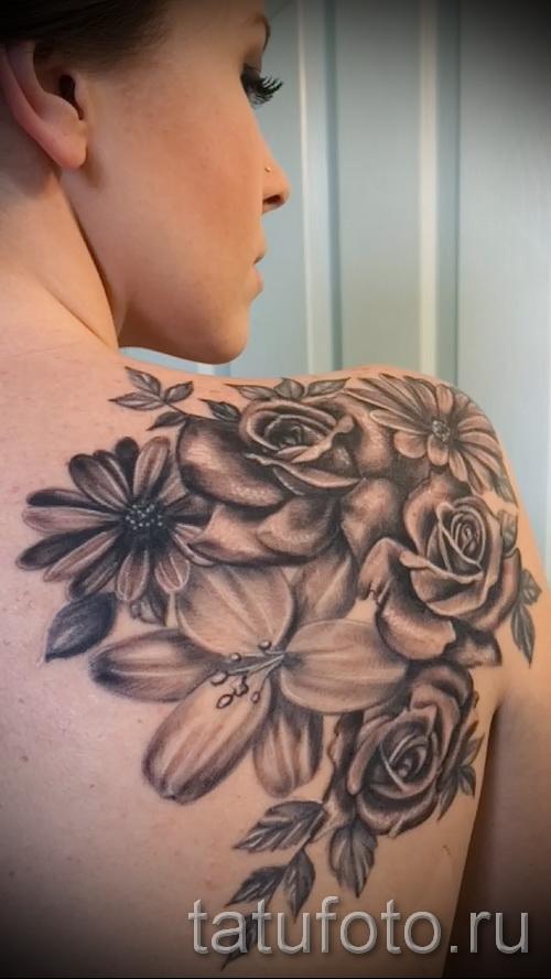 тату розы на плече - фото вариант от 15122015 № 11
