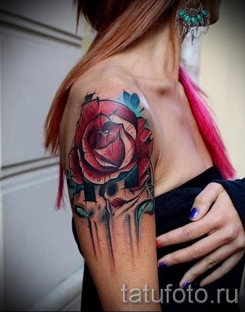 тату розы на руке - фото вариант от 15122015 № 13