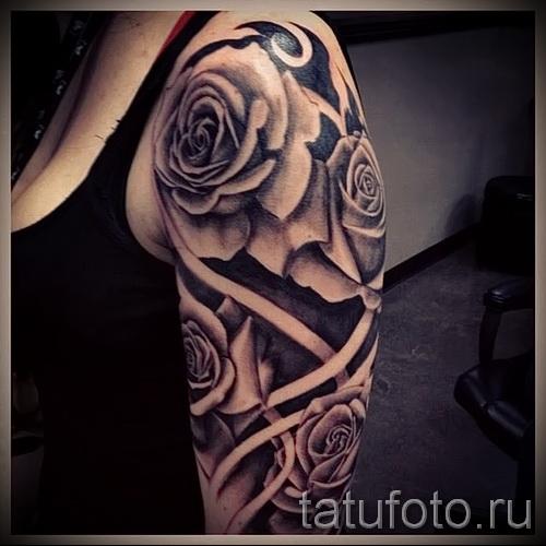 тату розы на руке - фото вариант от 15122015 № 14