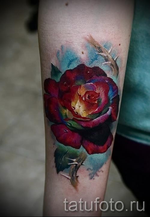 тату розы на руке - фото вариант от 15122015 № 21