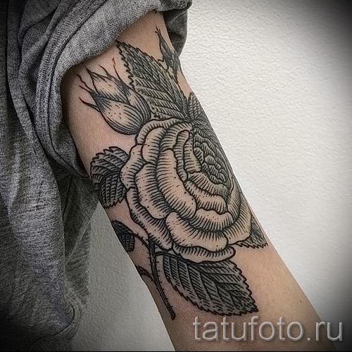 тату розы на руке - фото вариант от 15122015 № 5
