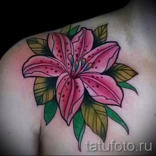 тату цветок лилия 5
