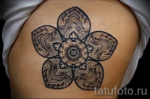 тату цветок мандала - фото классной татуировки от 21122015 № 4
