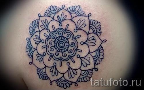 тату цветок мандала - фото классной татуировки от 21122015 № 5