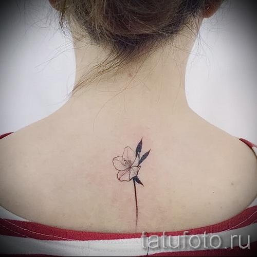 тату цветы минимализм - фото вариант от 21122015 № 1