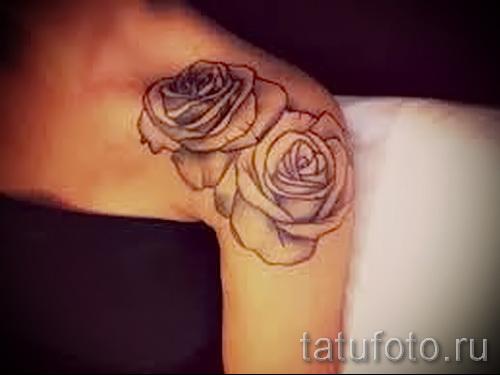 тату цветы на плече - фото вариант от 21122015 № 11