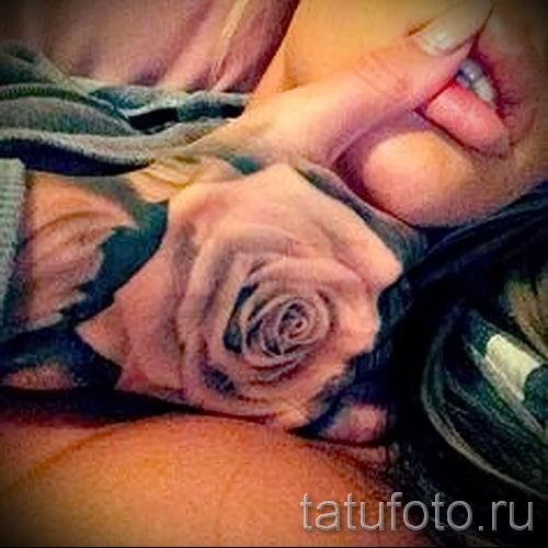 тату цветы на руке для девушек - фото вариант от 21122015 № 3