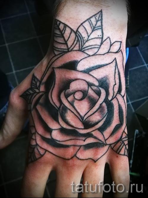 тату цветы на руке - фото вариант от 21122015 № 12
