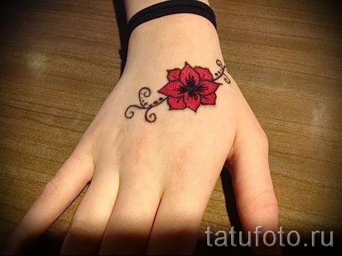 тату цветы на руке - фото вариант от 21122015 № 18