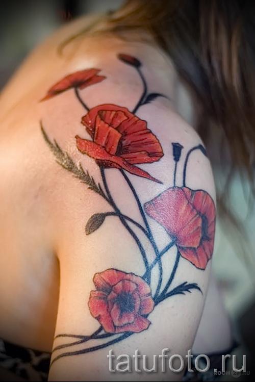 тату цветы цветные 2