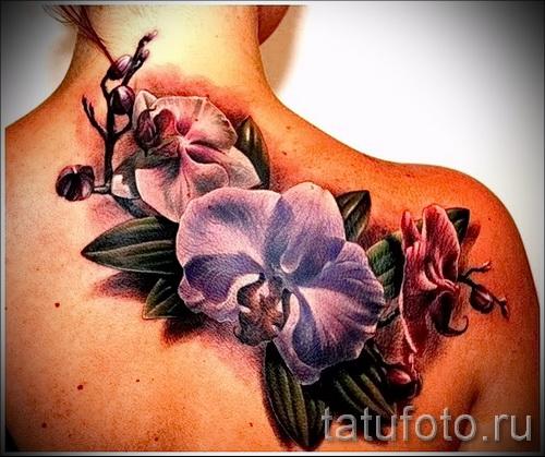 тату экзотические цветы - фото вариант от 21122015 № 2