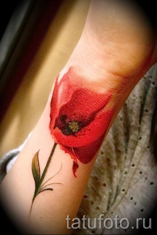 тату 3д цветы - фото вариант от 21122015 № 7
