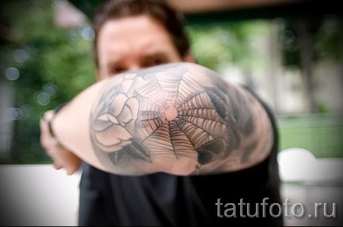 тюремные тату паутина - фото готовой татуировки - 20122015 № 5