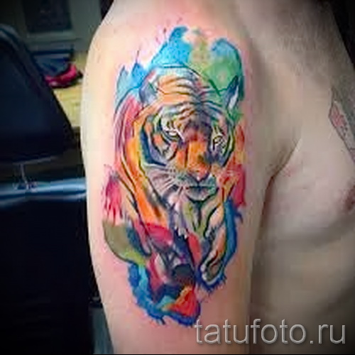 Abstract tiger tattoo - Photo example of the number 21122015 1