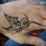 Abstrakte Tätowierung auf der Hand - Foto Beispiel für die Nummer 21122015 1