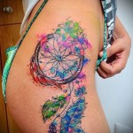 Dreamcatcher tattoo color - Photo example of the number 11122014 2