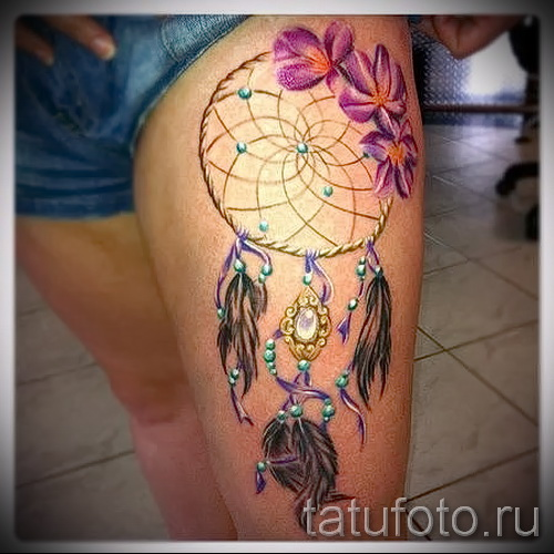 Dreamcatcher tattoo color - Photo example of the number 11122014 3