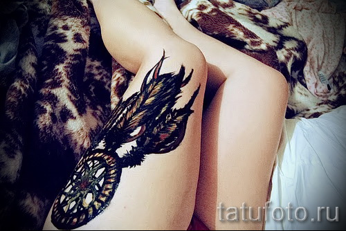 Dreamcatcher tattoo on his leg - Photo example of the number 11122014 1