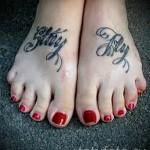 Englisch beschriftet für Tätowierungen - Bilder des fertigen tattoo - 20122015 Nummer 1