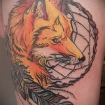 Fox Dreamcatcher Tattoo - Photo example of the number 11122014 1