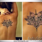 Indian flower tattoo - a cool photo of the tattoo number 21122015 1