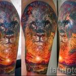 Löwe Tattoo Abstraktion - Foto Beispiel für die Nummer 21122015 1