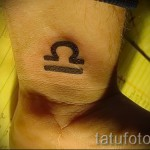 Libra tattoo on the wrist - Photo example of the number 13122015 1