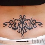 Libra tattoos for girls - Photo example of the number 13122015 3