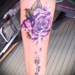 Picture-Option aus dem Nummer 15122015 - Aquarell tattoo rose 1