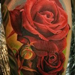 Rose Tattoo Realismus - Picture-Option aus dem Nummer 15122015 2