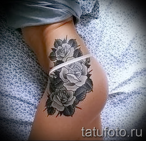 Rose Tattoo am Bein Bilder - Fotos von der Versionsnummer 15122015 1