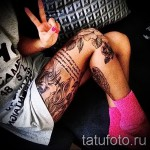 Rose Tattoo am Oberschenkel - Picture-Option aus dem Nummer 15122015 1